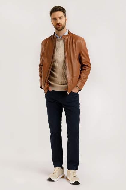 Кожаная куртка мужская Finn Flare B20-21800 коричневая XL