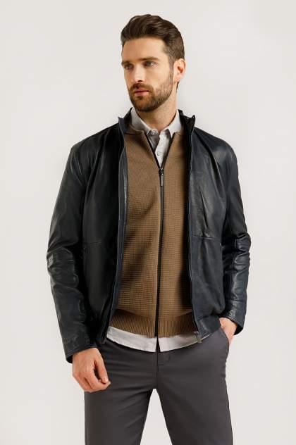 Кожаная куртка мужская Finn Flare B20-21801B синяя 4XL