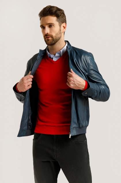 Кожаная куртка мужская Finn Flare B20-21801B голубая 5XL