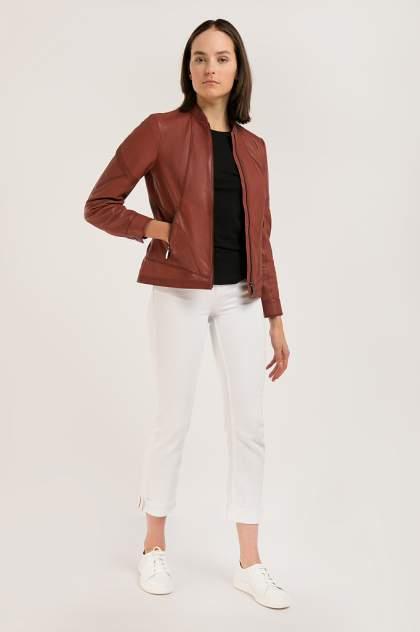 Кожаная куртка женская Finn Flare B20-11807 красная 2XL
