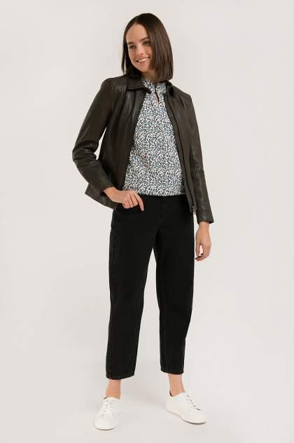 Кожаная куртка женская Finn Flare B20-11802 коричневая 2XL