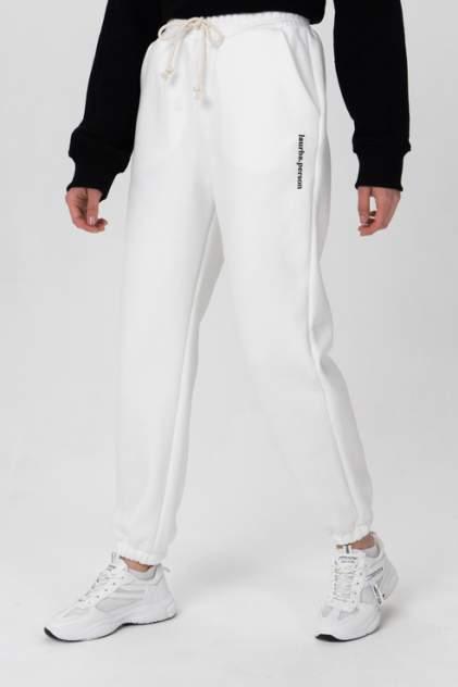 Спортивные брюки женские LA URBA PERSON MLK-022 белые 44-46