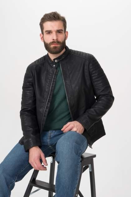 Мужская кожаная куртка TOM TAILOR 1023172, черный