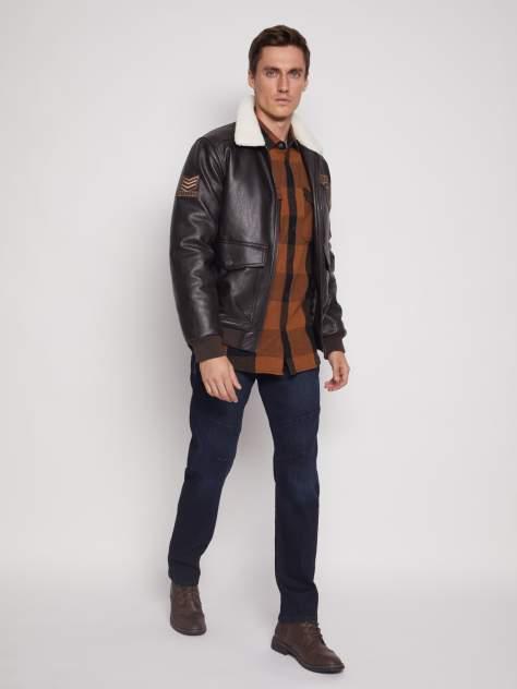 Мужская кожаная куртка Zolla 011345P02014, коричневый
