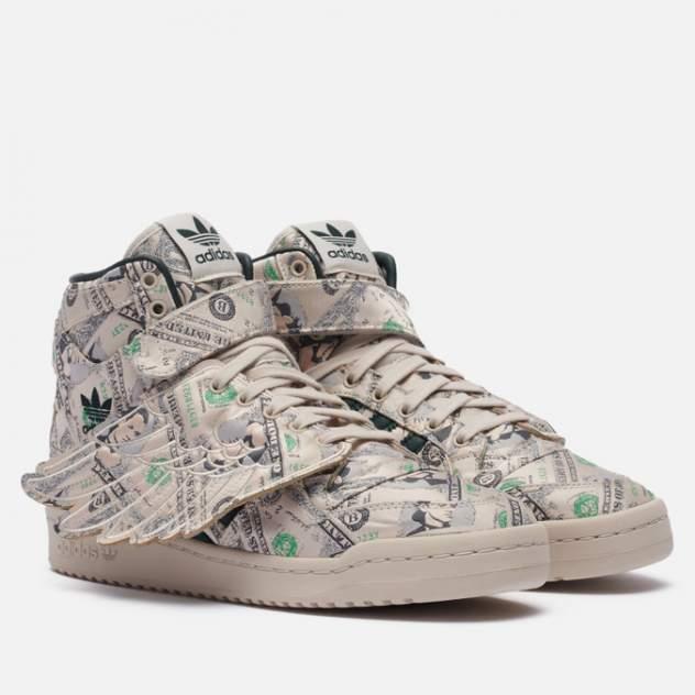 Кроссовки женские Adidas x Jeremy Scott Forum Hi Wings 1.0 Money, бежевый