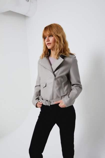 Женская кожаная куртка Sela 1803011117, серый