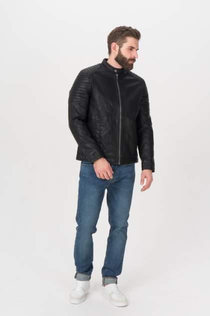 Кожаная куртка мужская TOM TAILOR 1023172 черная 52 RU