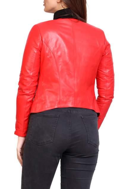 Кожаная куртка женская EXPO FUR S.7 красная 38