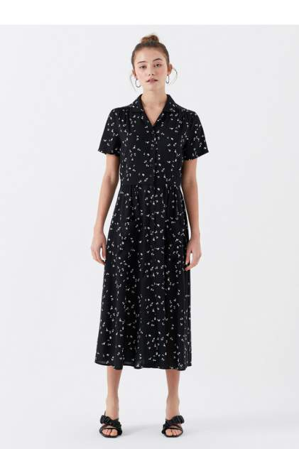 Платье-рубашка женское Mavi 130824-28614 черное XL