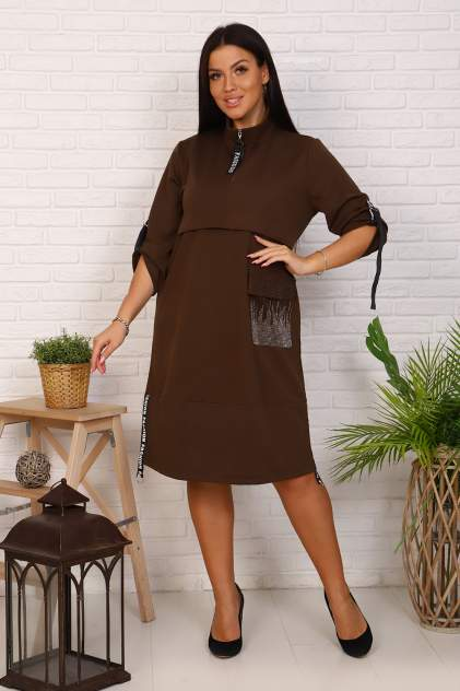 Женское платье Миллена Шарм 31550, коричневый