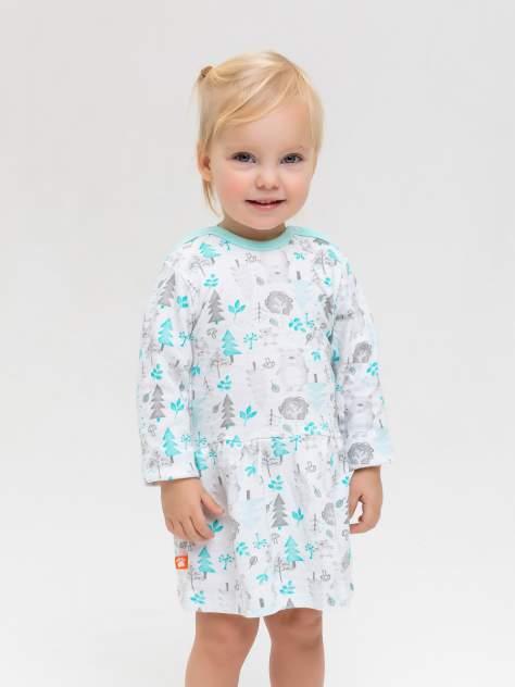 Платье Лесные Мишки Котмаркот 2000951 для новорожденных белый р.74