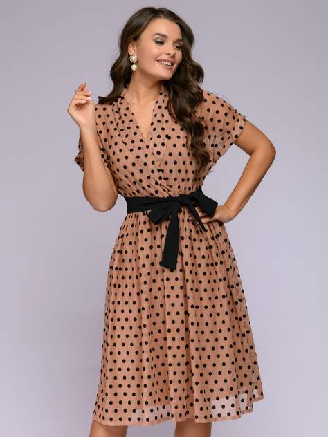 Женское платье 1001dress 0122001-02237BG, бежевый