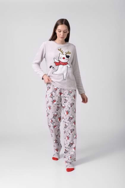Пижама женская Modis M202U00490Y501F03 серая 42