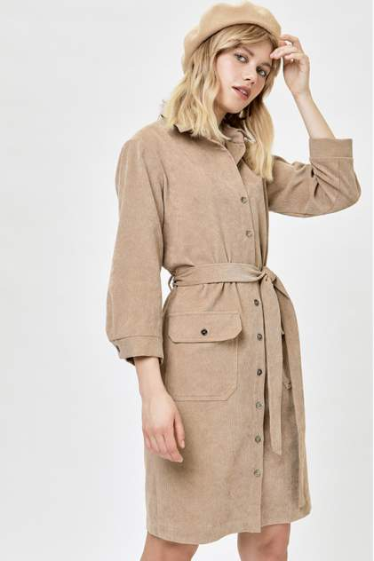 Платье-рубашка женское Vittoria Vicci 1801-9196-2 бежевое L