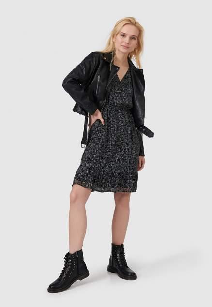 Кожаная куртка женская Modis M202W00802S642F76 черная 48