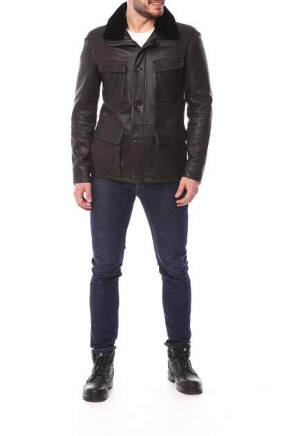 Мужская кожаная куртка Perre 4452, черный