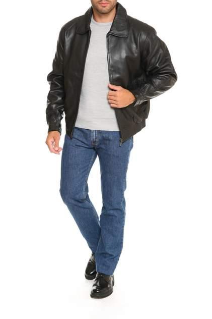 Кожаная куртка мужская DONGFAZQ 601 черная 3XL