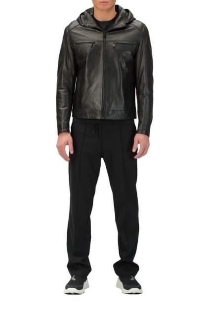 Мужская кожаная куртка VIAEDUCCI SLL-2105, черный