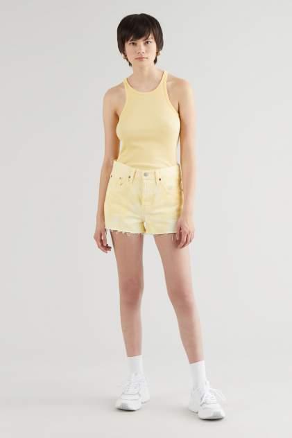 Джинсовые шорты женские Levi's 56327-0197 желтые 28