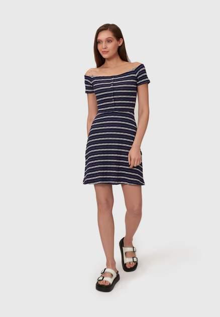 Повседневное платье женское Modis M201W01242 синее 46-48