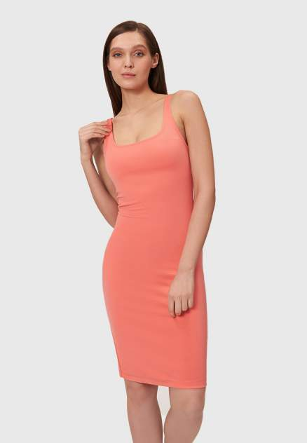 Платье-майка женское Modis M201W00907 оранжевое 44-46