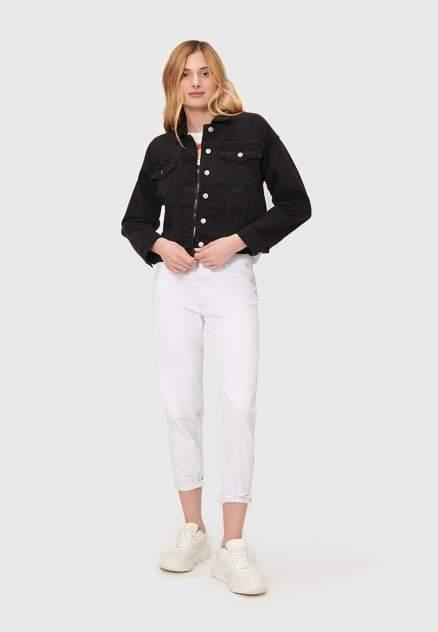 Джинсовая куртка женская Modis M202D00065B001 черная 50 RU