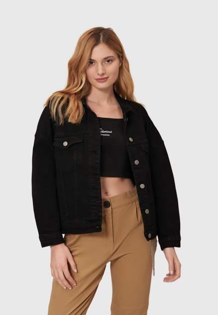 Джинсовая куртка женская Modis M202D00101B001 черная 50 RU