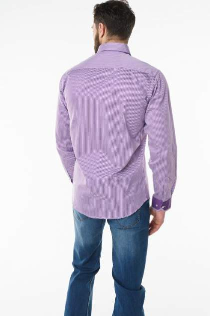 Рубашка мужская Sahera Rahmani 2287004-51 фиолетовая 56