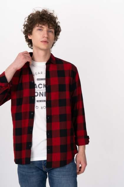 Рубашка мужская Jack & Jones 12181602 красная 46