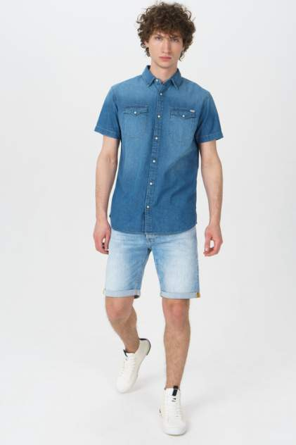 Рубашка мужская Jack & Jones 12159371 синяя 50
