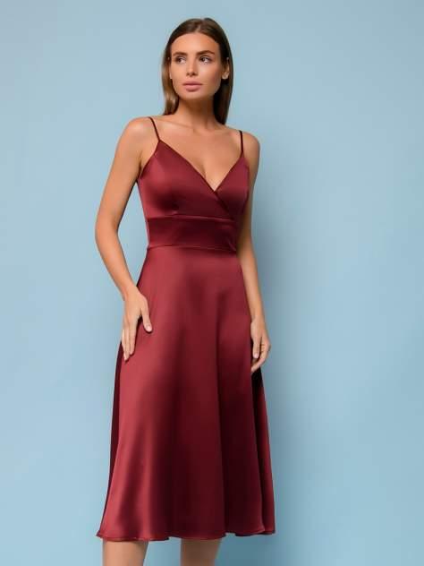 Женское платье 1001dress 0132101-02532BK, бордовый