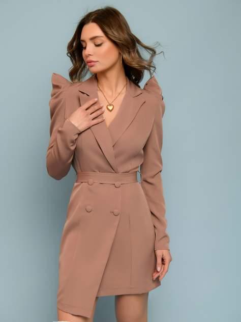 Женское платье 1001dress 0132101-30196BK, коричневый