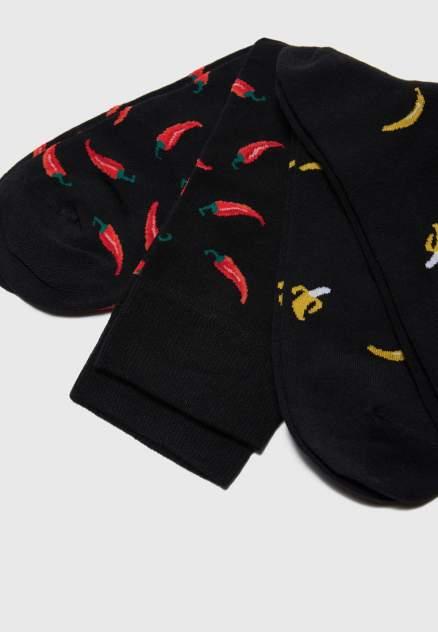 Набор носков мужских Modis M211U002961BDHP21 черных 25-27