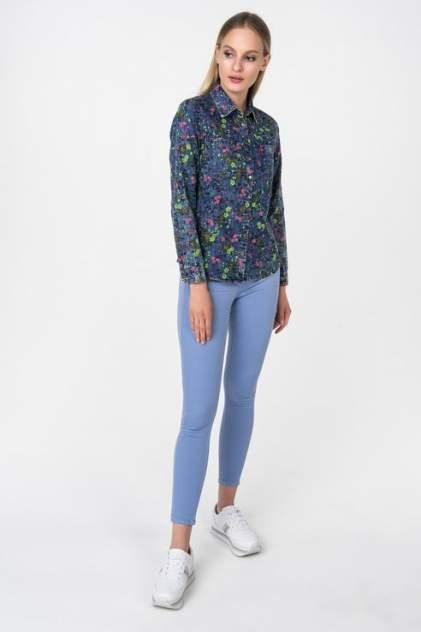 Рубашка женская Marimay 7168 синяя 44