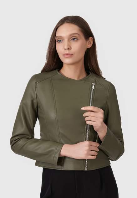 Кожаная куртка женская Modis M211W00374Y034F76 коричневая 44