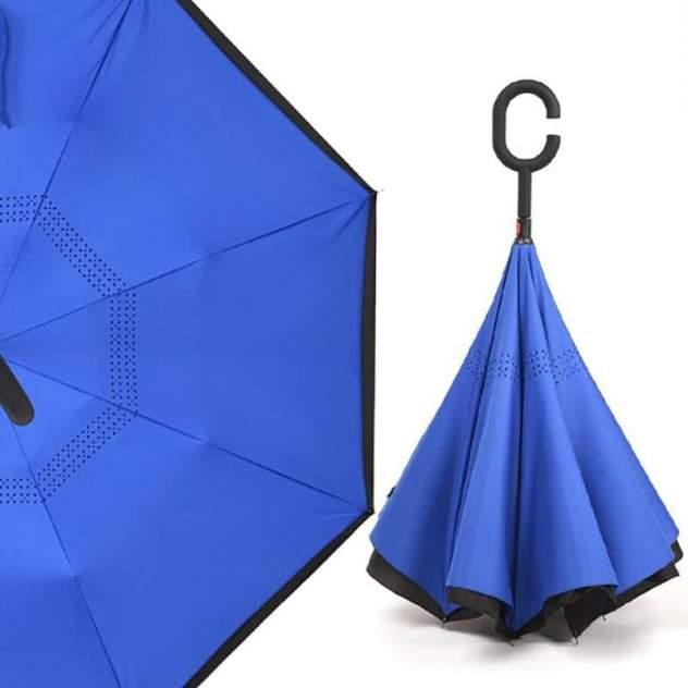 Зонт обратный унисекс механический Baziator X0081C синий/черный
