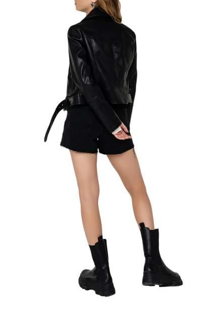 Кожаная куртка женская befree 2031025105 черная XS