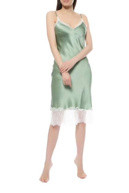 Комбинация женская BOTROIS BT_Рубашка_BELLE_C_КРУЖЕВОМ зеленая 46