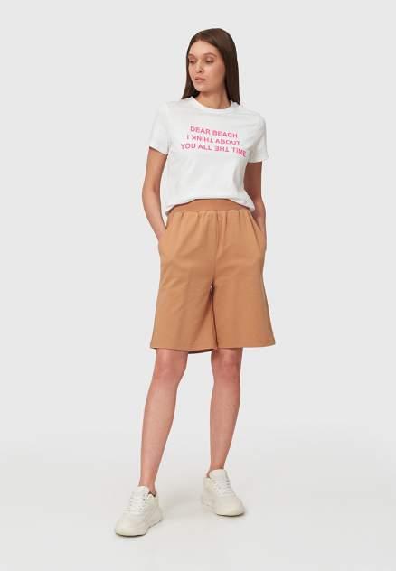 Спортивные шорты женские Modis M211W00869 бежевые 44-46 RU