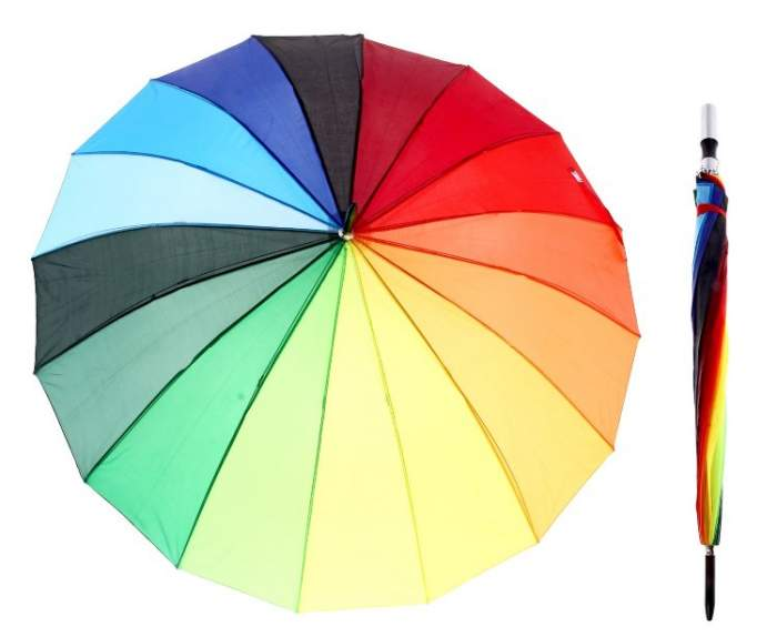 Зонт унисекс Формула Радуга разноцветный