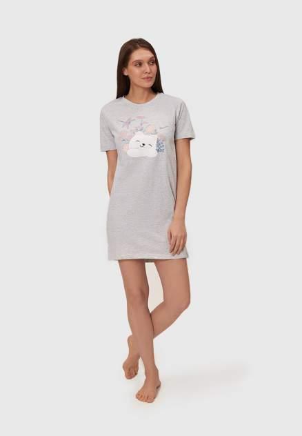 Домашнее платье женское Modis M211U00090I890 серое 48