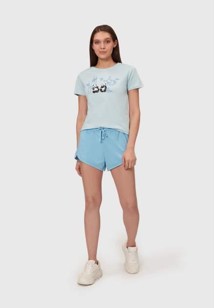 Спортивные шорты женские Modis M211W00874 бирюзовые 44-46 RU