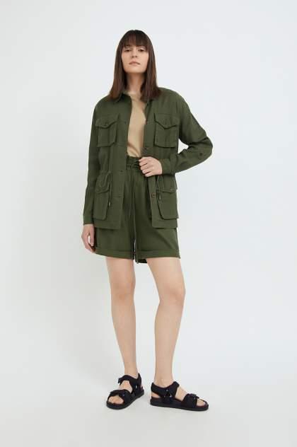 Женские шорты Finn Flare S21-12079, зеленый