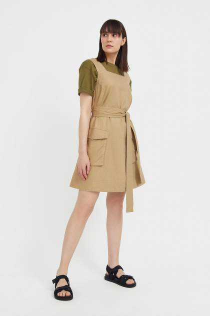 Женское платье Finn Flare S21-12078, бежевый