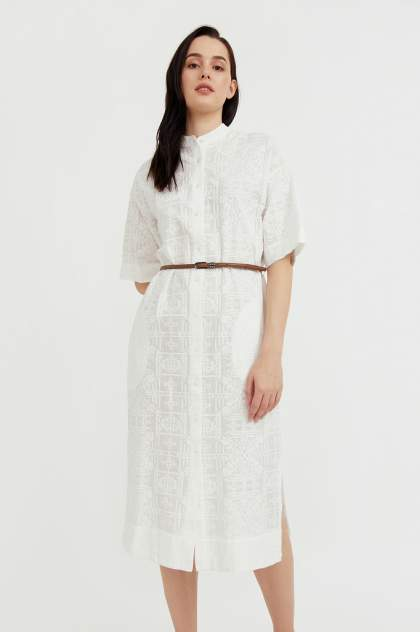 Женское платье Finn Flare S21-11028, белый