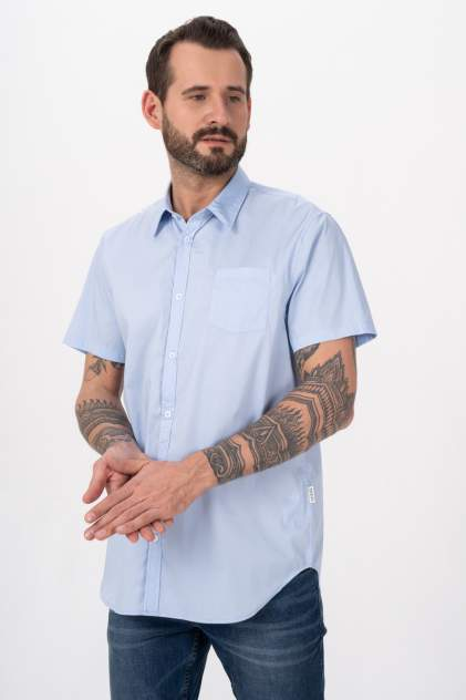 Рубашка мужская Guess M1GH21W7ZK1, голубой