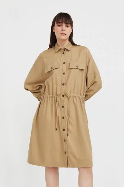 Женское платье Finn Flare S21-12077, бежевый