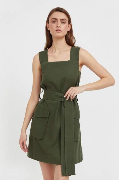 Женское платье Finn Flare S21-12078, зеленый