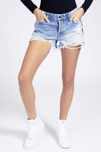 Джинсовые шорты женские Guess W1GD70D3P32RIK1 голубые 26