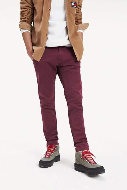 Брюки мужские Tommy Jeans DM0DM06518 бордовые 32/34